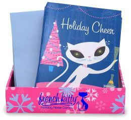 French Kitty Holiday Cheer Holiday Note Cards