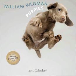 William Wegman Puppies 2011 Wall Calendar