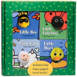 Finger Puppet Friends boxed set: Little Duck, Little Ladybug, Little Lamb, and Little Bee!