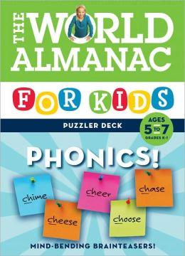World Almanac Puzzler Deck: Phonics, Ages 5-7, Grades K-1