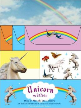 Unicorn Wishes: 16 Stationery Sheets and Envelopes Plus Stickers