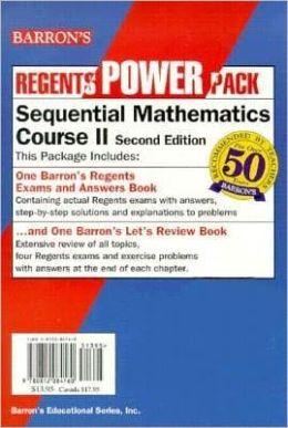 Barron's Regents Power Pack Sequential Math II