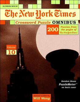 New York Times Crossword Puzzle Omnibus, Volume 10