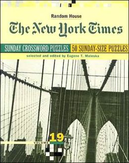 New York Times Sunday Crossword Puzzles