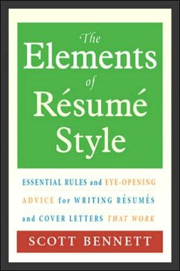 the elements of resume style essential and eye
