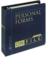 Personal Forms on File: 2002 Edition