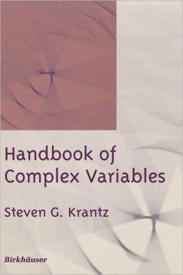 Handbook of Complex Variables