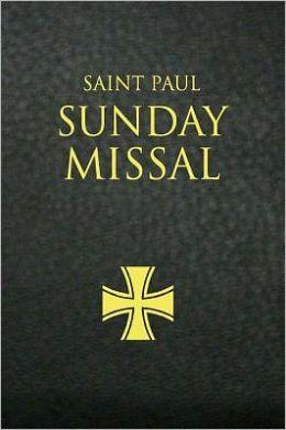 Saint Paul Sunday Missal: Black Leatherflex