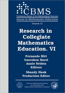 Research in Collegiate Mathematics Education. VI