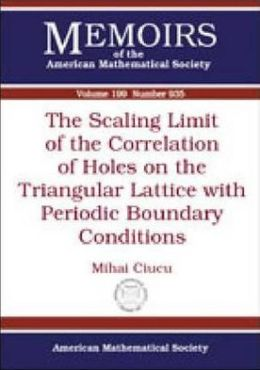 The Scaling Limit of the Correlation of Holes on the Triangular Lattice with Periodic Boundary Conditions