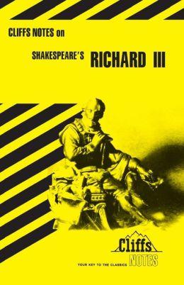 CliffsNotes on Shakespeare's Richard III