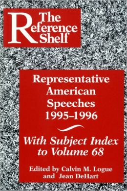 Representative American Speeches 1995-1996