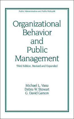 Organizational Behavior and Public Management