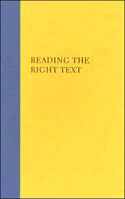 Reading the Right Text: An Anthology of Contemporary Chinese Drama
