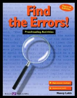 Find the Errors! Proofreading Activities