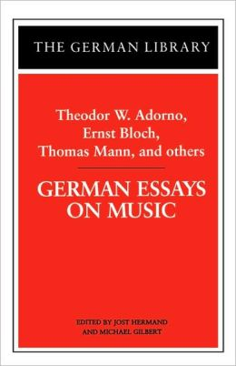 German Essays On Music