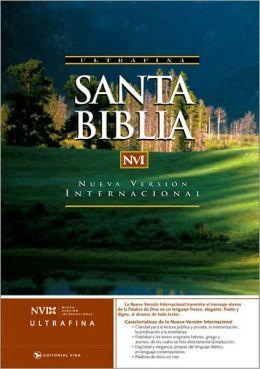 NVI Santa Biblia Ultrafina Dura Negro