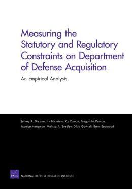 MEASURING THE STATUTORY AND REGULATORY CONSTRAINTS
