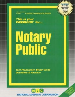 Notary Public Passbook