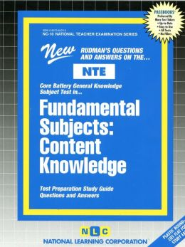 Fundamental Subjects: Content Knowledge