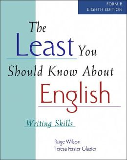 The Least You Should Know About English: Writing Skills (Form B)