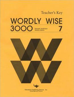 Wordly Wise 3000 (Level 7) - Teacher's Edition : Workbook - Answer Key