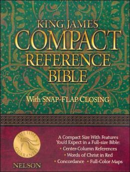 KJV Compact Reference Bible: King James Version, navy blue bonded leather, snap cased