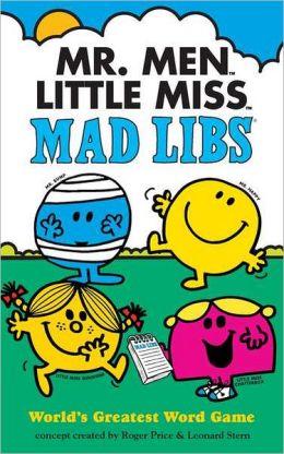 Mr. Men Little Miss Mad Libs