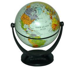 Pale Blue Oceans Swivel and Tilt Mini Globe