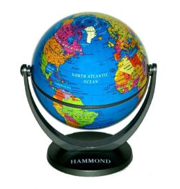 Dark Blue Oceans Swivel and Tilt Mini Globe