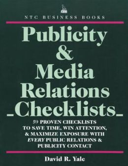 Publicity & Media Relations Checklists