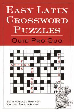 Easy Latin Crossword Puzzles