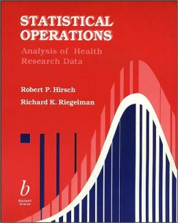 Statistical Operations: Analysis of Health Research Data