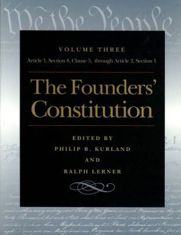 The Founders' Constitution Vol 3