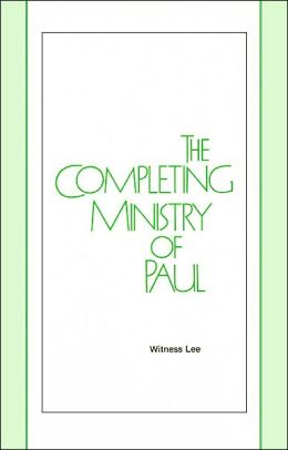 Completing Ministry of Paul
