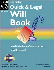 Quick and Legal Will Book