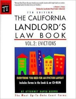 California Landlord's Law Book: Evictions (with CD-ROM)