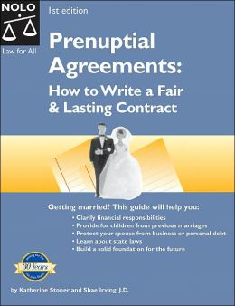 Prenuptial Agreements (Law for All Series): How to Write a Fair and Lasting Contract