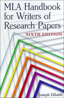 mla handbook writers research papers 2003