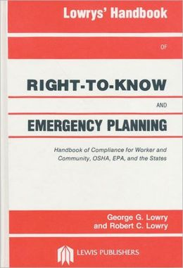Lowrys' Handbook of Right-to-Know and Emergency Planning, Sara Title III