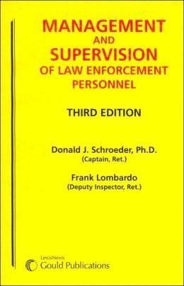 Management & Supervision Law Enforcement Personnel (SC) 3e
