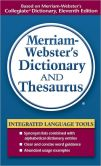 Book Cover Image. Title: Merriam Webster's Dictionary and Thesaurus, Author: Merriam-Webster