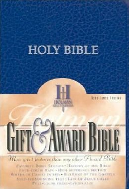 KJV Gift & Award Bible, Blue Imitation Leather