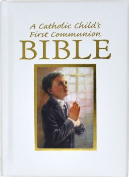 Catholic Child's First Communion Gift Bible-NAB-Boy