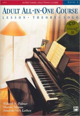 Alfred's Basic Adult All-in-One Piano Course, Bk 2: Book & CD