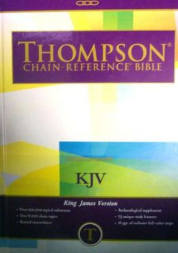 Large Print (10 Point) Thompson Chain-Reference Bible: King James Version (KJV), brown cloth, gold-edged, thumb-indexed, side-referenced, concordance, words of Christ in red