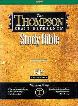 Thompson Chain-Reference Study Bible, Large Print (10 Point) Edition: King James Version (KJV), burgundy bonded leather, gold-edged