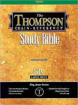 Thompson Chain-Reference Bible: King James Version (KJV), black genuine leather, gold-edged, words of Christ in red, with concordance