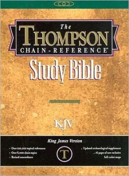 Thompson Chain-Reference Handy Size Bible: King James Version (KJV), black genuine leather, gold-edged, thumb indexed, words of Christ in red, with concordance