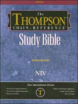 Thompson Chain-Reference Study Bible: New International Version (NIV), Black Imitation Leather, Thumb-Indexed